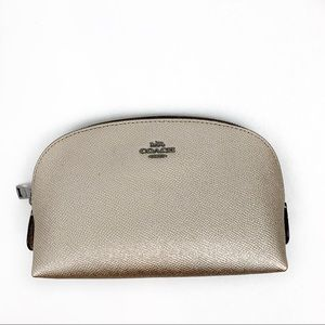 Coach leather cosmetic bag